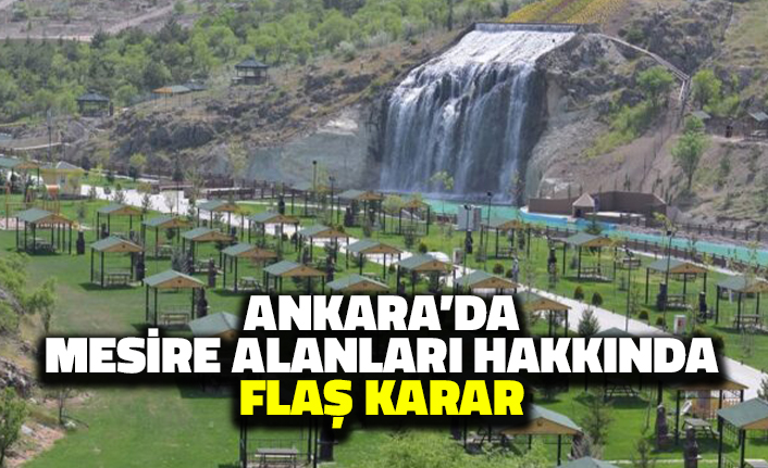 Ankara'da Mesire Alanları Hakkında Flaş Karar