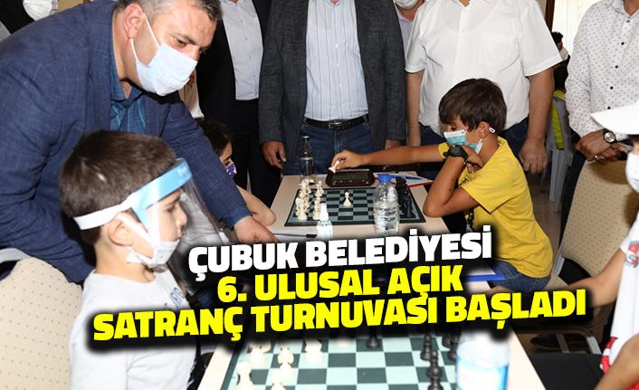 Çubuk Belediyesi Altıncı Ulusal Açık Satranç Turnuvası Başladı
