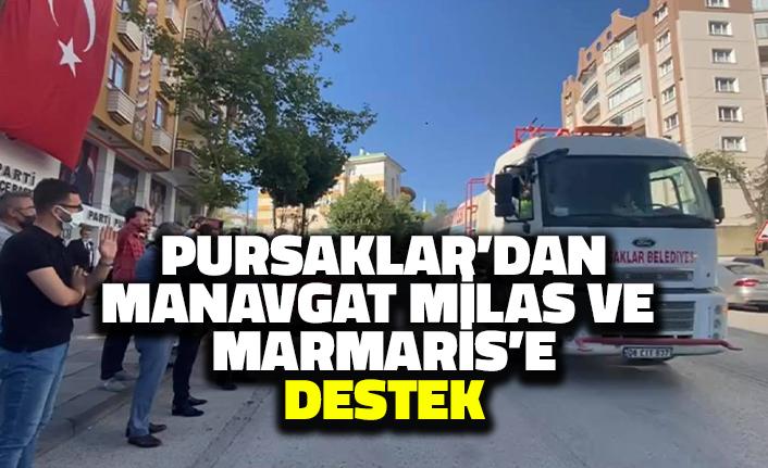 Pursaklar'dan Marmaris Milas ve Manavgat'a Destek