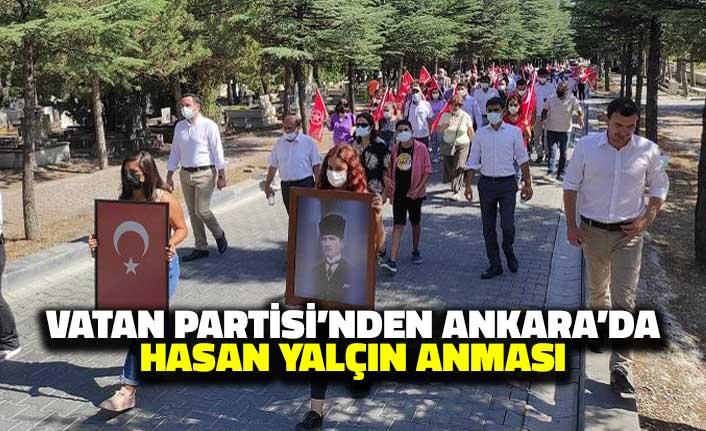 Vatan Partisi'nden Ankara'da Hasan Yalçın Anması