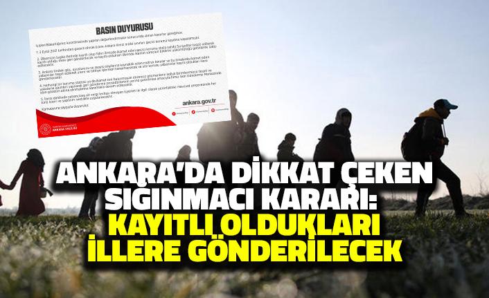 Ankara'da Dikkat Çeken Sığınmacı Kararı
