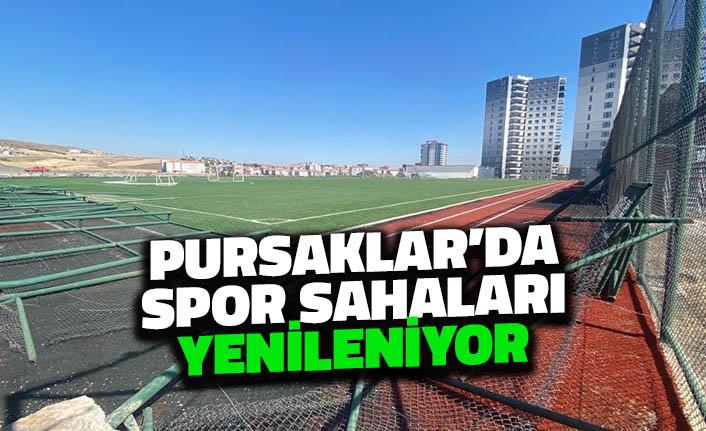 Pursaklar'da Spor Sahaları Yenileniyor