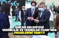 Sincan Belediyesi Verimlilik ve Teknoloji Fuarı'nda Projelerini Tanıttı
