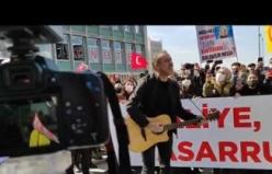 Haluk Levent Ankara'da Atanamayan Öğretmenlerin Eylemine Katıldı