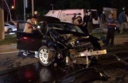 Ankara'da Irak Büyükelçiliği'ne Ait Otomobil Kaza Yaptı!