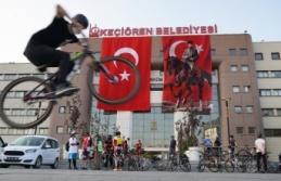 Keçiören'de Bisiklet Turu