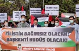 TGB Ankara'da İşgalci İsrail'in Mescid-i Aksa Saldırısını Protesto Etti