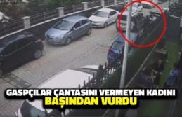 Gaspçılar Çantasını Vermeyen Kadını Başından Vurdu