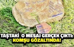 Taştaki 'Tecavüz Ediliyorum' Yazısı Gerçek Çıktı: Komşu Gözaltında!