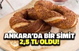 Ankara'da Bir Simit 2,5 TL Oldu!