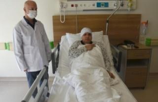 Kazada Yüzü İkiye Ayrılmıştı: 40 Vidayla Birleştirildi