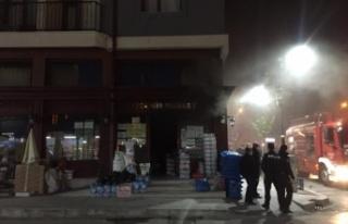 Kızılcahamam'da Bir Markette Yangın Çıktı