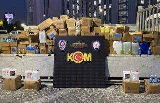 Ankara'da 1 Ton Etil Alkol Ele Geçirildi