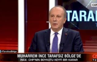 CHP'nin CNN Boykotunu Delen Muharrem İnce'den...