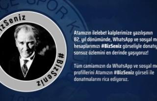 Fenerbahçe'den 10 Kasım Kampanyası: #BizSeniz