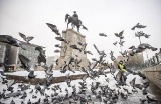 İlk Kar Yağdı: Ankara Beyaza Büründü