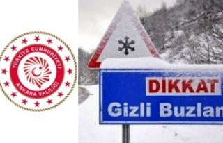 Ankara Valiliği'nden Buzlanma ve Don Uyarısı