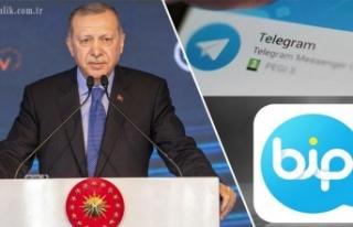 Cumhurbaşkanı Erdoğan, Telegram ve BİP'te...