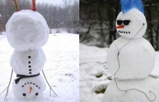 Günün En Güzel 'Kardan Adam' Fotoğrafları