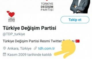 Türkiye Değişim Partisi'nin Twitter Hesabı...