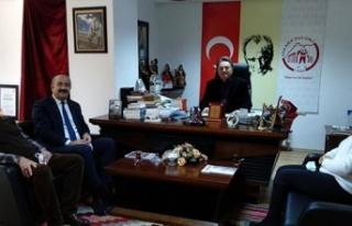 Utfes'den Metin Özaslan'a Teşekkür Ziyareti