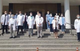 Ankara'da Sağlık Çalışanlarını Anmak için...