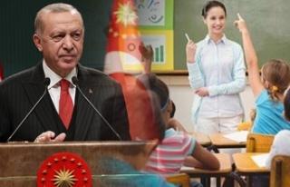 Cumhurbaşkanı Erdoğan Müjdeyi Verdi: 20 Bin Öğretmen...