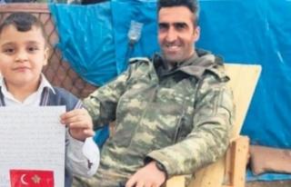 Şehit Yüzbaşı Burak Coşkun'un İlkokul Öğrencisine...