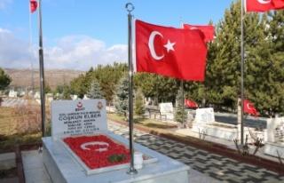 Elmadağ'da Şehit Mezarlarına Bakım ve Onarım...