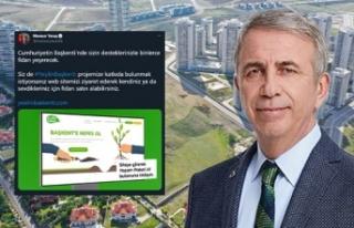 Mansur Yavaş'tan Yeşilin Başkenti Projesi...