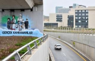 Ankara'da Sağlık Çalışanlarına Moral Veriliyor