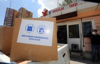 Ankara'da Taksici Esnafına Ramazan Desteği
