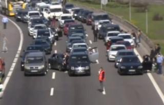 Ankara İstikametinde Trafik Durdu