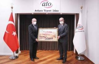 Arnavutluk Büyükelçisi Robo, Gürel Baran'ı...