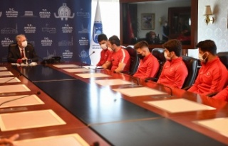 Avrupa Şampiyonlarından Mansur Yavaş'a Ziyaret
