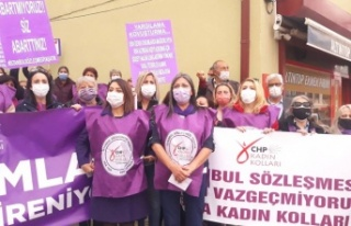 CHP'den Bala'da İstanbul Sözleşmesi Protestosu