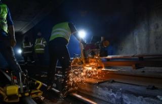 Ankara Metrosunda Aşınan Raylar Yenileniyor