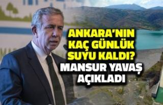Ankara'nın Kaç Günlük Suyu Kaldı? Başkan...