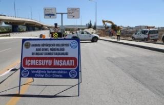 Ankara'ya 800 Metrelik Yeni İçme Suyu Hattı...