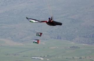 Ankaralı Paraşütçüler Filistin'e Destek...