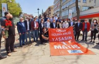 CHP Ankara 1 Mayıs'ı Madenci Anıtı Önünde...