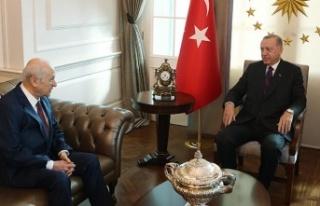 Cumhurbaşkanı Erdoğan ile Devlet Bahçeli Görüşmesinde...