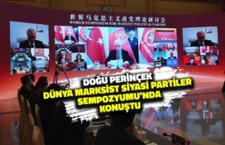 Doğu Perinçek Dünya Marksist Siyasi Partiler Sempozyumu'nda...