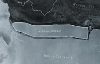Dünya'nın En Büyük Buz Dağı Antarktika'dan...