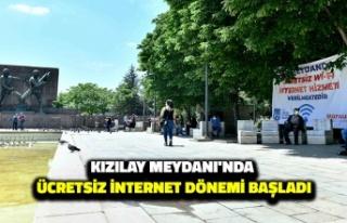 Kızılay Meydanı Ücretsiz WİFİ'ye Kavuştu