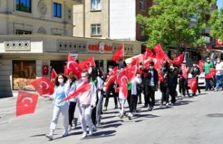Mamak'ta 19 Mayıs Gençlik Yürüyüşü