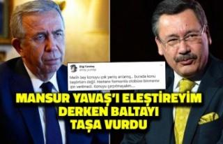 Melih Gökçek Mansur Yavaş'ı Eleştireyim Derken...