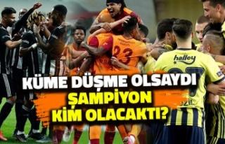 Süper Lig'de Geçtiğimiz Yıl Küme Düşme Olsaydı...