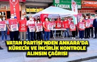 Vatan Partisi'nden Ankara'da Kürecik ve...