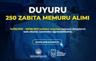 Ankara Büyükşehir Belediyesi 250 Zabıta Memuru...
